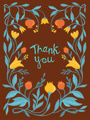 Vector thank you card in flat style — Vector de stock