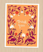 Vector thank you card in flat style — Stock Vector