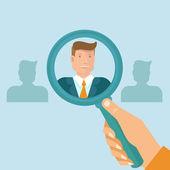 Vector human resources — Stock Vector