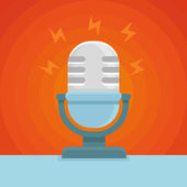 Vector podcast icon in flat icon — Stock Vector