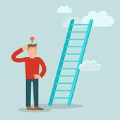 Concetto di business vettoriali in stile piano — Vettoriale Stock