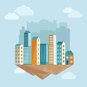 Vector city concept in flat style — Stock Vector