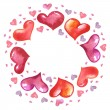 Frame made from hearts — Stock Photo #8394752