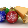 Christmas ornaments on a white — Stock Photo #1630274