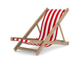 Deckchair on white background. Isolated 3D image — Stock Photo