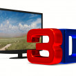 TV on white background. Isolated 3D image — Stock Photo