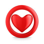 Isolated heart on white background. 3D image — Stock Photo