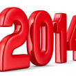 2014 new year. Isolated 3D image — Stock Photo
