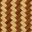 Abstract decorative wooden textured basket weaving. 3D image — Stock Photo