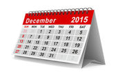 2015 year calendar. December. Isolated 3D image — Stock Photo