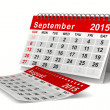 2015 year calendar. September. Isolated 3D image — Stok fotoğraf #48128165
