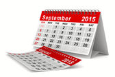 2015 year calendar. September. Isolated 3D image — Stock Photo