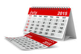 2015 year calendar. July. Isolated 3D image — Stock Photo