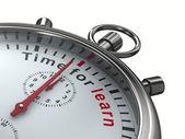 время учиться. секундомер на белом фоне. изолированные 3d изображение — Стоковое фото