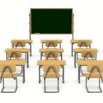 Classroom on white background. Isolated 3D image — Stock Photo #49184369