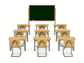 Classroom on white background. Isolated 3D image — Stock Photo