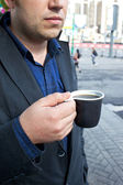 Gatan kaffe — Stockfoto