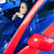 Young woman in car — Stock Photo #1356885