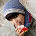 Boy eating ice cream — Stock Photo #15611875