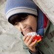 Stock Photo: Child eating ice cream