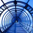 Interior blue tunnel - Stock Photo