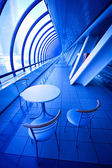 Blue cafe — Stock Photo
