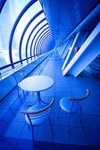 Blue cafe — Stock Photo