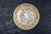 Deset Mexické peso mince — Stock fotografie
