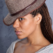 Girl in hat — Stock Photo