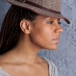 Yong woman in a hat — Stock Photo