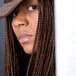 Young woman with African braids — Stock Photo