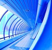 Blue covered bridge — Stock Photo
