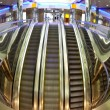 Moving escalators — Stock Photo