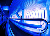 Hall with moving walkways — Stock Photo