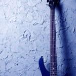 Blue bass guitar — Stock Photo #2678835