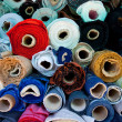 Rolls of fabric — Stock Photo