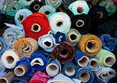 Rolls of fabric — Stock Photo