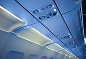 In the cabin of passenger aircraft — Stock Photo