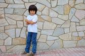 Boy in a white shirt — Stock Photo