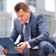 Thoughtful businessman — Stock Photo