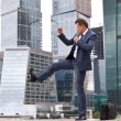Businessman holds training session — ストック写真