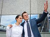 Successful business couple — Stock Photo