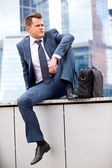 Successful businessman resting — Stock Photo