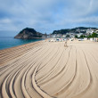 Beach in Tossa de Mar — Stock Photo