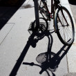 Bike and its shadow — Stockfoto