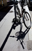 Bike and its shadow — Stock Photo