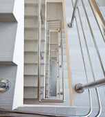 Staircase with metal railing — Stock Photo