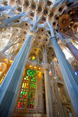 La Sagrada Familia, interior — Stock Photo