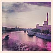 #moscow #landscape#river #ship #sky#evening #photo #fotoru #water #ретро #винтаж #retro #vintage #european #европейский #фото #фотору — Stock Photo