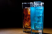 Drinks with ice — Stock Photo